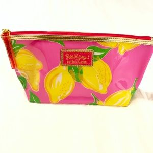 Lilly Pulitzer travel cosmetics lemon make up case